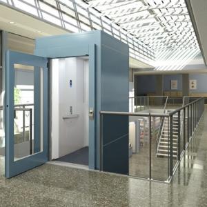 Внутренний подъемник для инвалидов с кабиной и шахтой CIBES А6000S